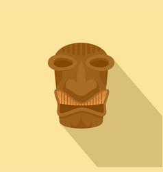 tribal idol tiki icon flat style vector image