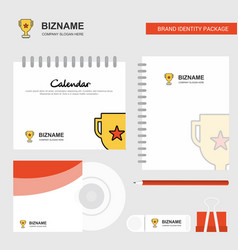 trophy logo calendar template cd cover diary and vector image