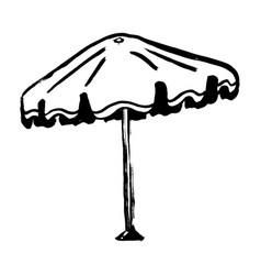 vacation and travel concept grunge beach umbrella vector image