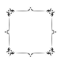 Vintage frame decoration vector image