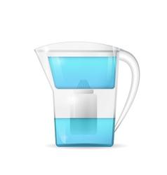 Water filtration jug vector