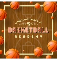 Basketball academy flyer or poster vector image