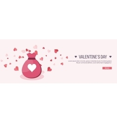 Flat background with bag vector image vector image