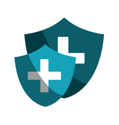 set blue seal cross emergency security vector image