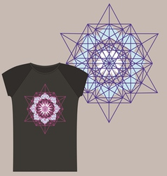 Star Tetrahedron for a t shirt vector image