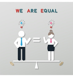 idea balance business concept vector image