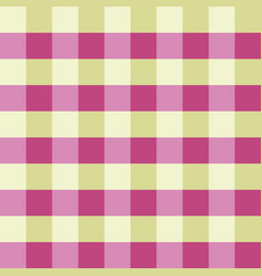 pink green gingham tablecloth seamless vector image