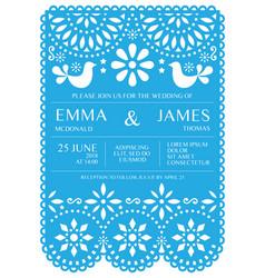 Wedding invitation card template - mexican vector