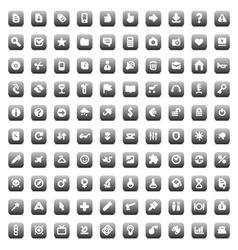100 web business media and leisure icons vector image vector image
