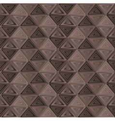 brown triangle background vector image