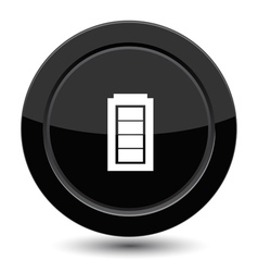 Button with battery vector image vector image