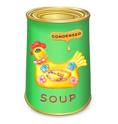Can of condensed Magic chicken soup vector image