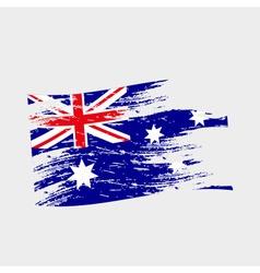 color australia national flag grunge style eps10 vector image