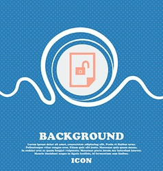 file unlocked icon sign Blue and white abstract vector image vector image
