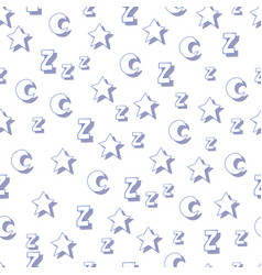 Flat stars moons and z with shadows on white vector