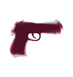 gun sign colorful icon vector image