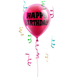 happy birthday balloon vector image vector image