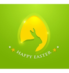 Happy easter egg with bunny ears shape vector image