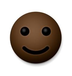 Happy emoticon emoji african american vector image vector image