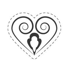 heart decoration ornament element vector image