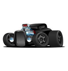 Hot rod vintage coupe custom car cartoon vector