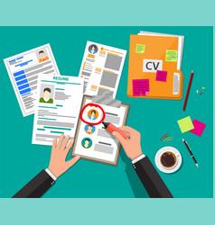 Human resources management concept vector