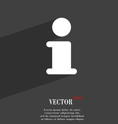 Information info icon symbol flat modern web vector