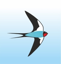 Swallow-sailor dressed up in frock vector image
