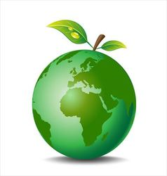 Apple earth vector image vector image