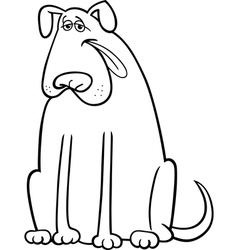 big dog cartoon for coloring book vector image vector image