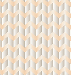 Chevron white and peach vector image vector image
