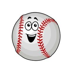 Fun happy baseball ball vector image