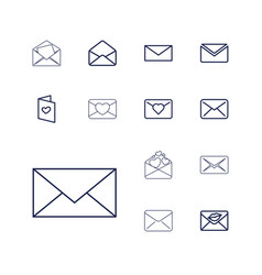 13 envelope icons vector