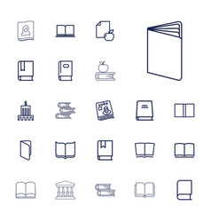 22 library icons vector