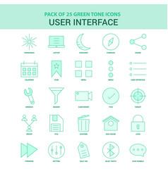 25 green user interface icon set vector