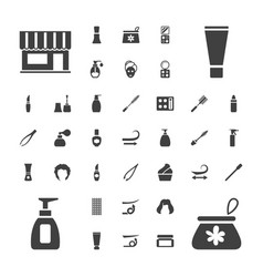 37 cosmetic icons vector