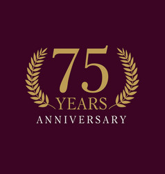 75 anniversary royal logo vector image