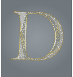 Abstract golden letter D vector image