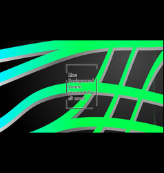 abstract wave background with green gradient vector image