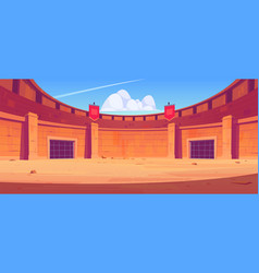 ancient roman arena for gladiators fight vector image