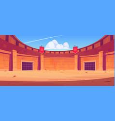 Ancient roman arena for gladiators fight vector