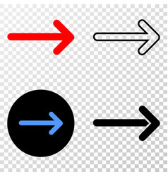 arrow right eps icon with contour version vector image