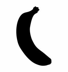banana dark silhouette vector image