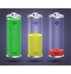 Batteries with liquid charge vector