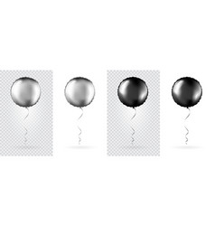 big set silver and black round shaped foil vector image