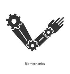 Biomechanics glyph icons set studying and copying vector