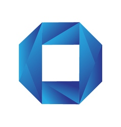 Blue geometric logo vector