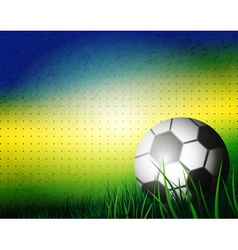 Brazilian Football Background Design vector