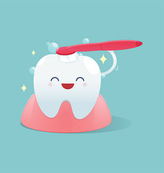 Brush teeth vector