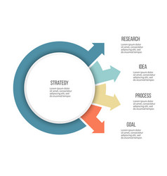 Business infographics organization chart with 4 vector